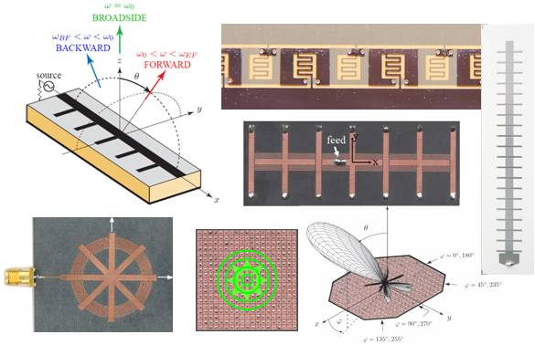 Metamaterial radiated-wave devices